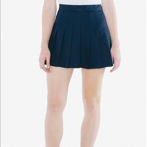 American Apparel Navy Tennis Skirt